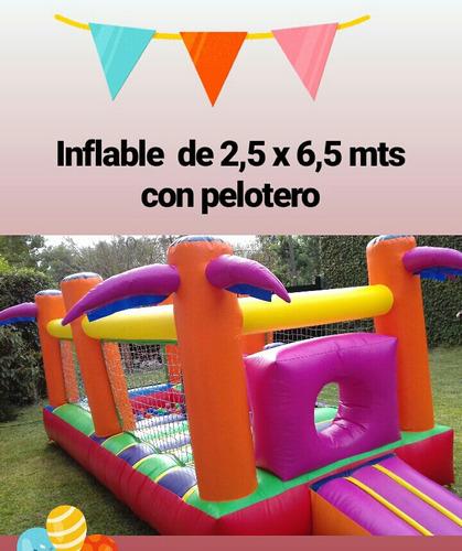 alquiler de inflables, metegol, plaza blanda y mini living