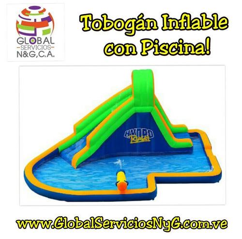 alquiler de inflables, piscina con tobogan, baby gym y mas!