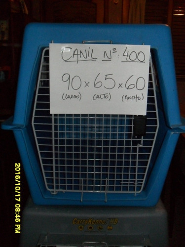 alquiler de jaulas transportadoras / caniles