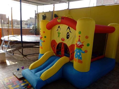 alquiler de juegos inflable y cama saltarin precio a conveni