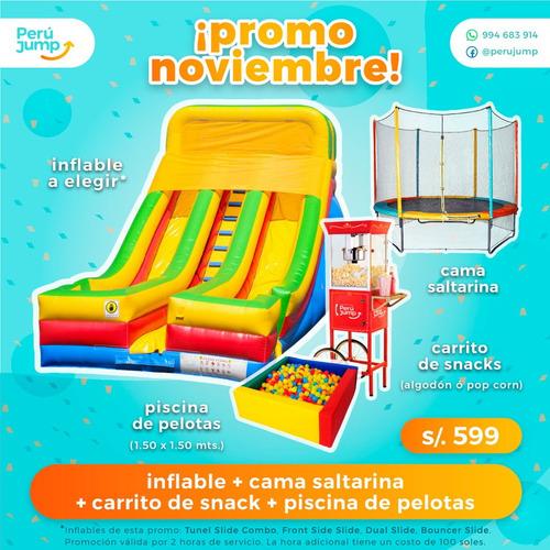 alquiler de juegos inflables y complementos para eventos!!!
