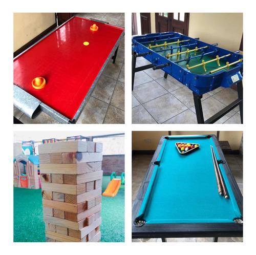 alquiler de juegos metegol tejo  mini pool jenga xl en pilar