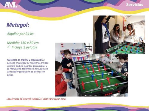 alquiler de juegos metegol tejo ping pong inflable yenga