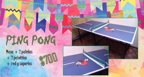 alquiler de juegos pingpong minipool metegol tejo sapo jenga