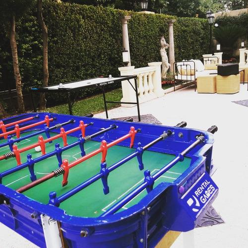 alquiler de juegos tejo metegol ping pong jenga cancha pool