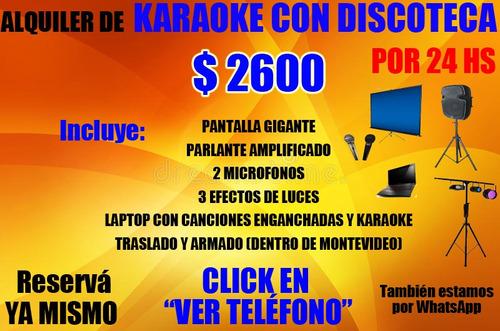 alquiler de karaoke con discoteca por 24 horas