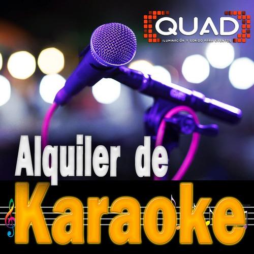 alquiler de karaoke luces sonido pantalla humo equipos