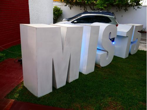 alquiler de letras gigantes 3d para quinceañeros, bodas