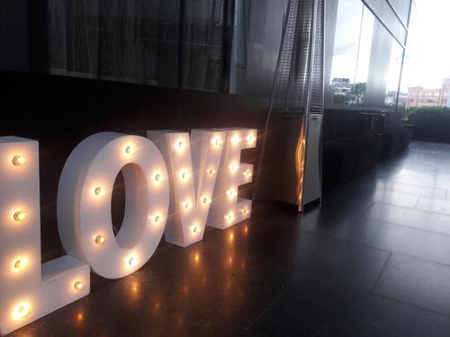 alquiler de letras iluminadas eventos, bodas, matrimonios
