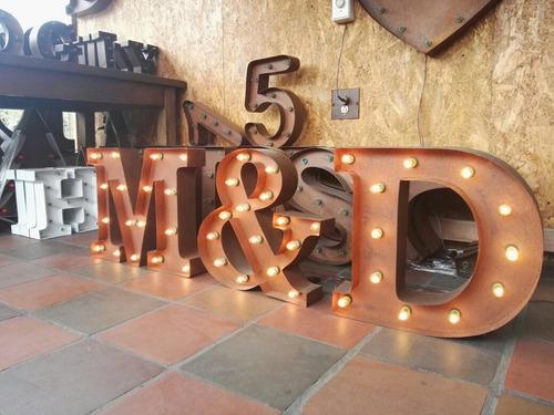 alquiler de letras vintage eventos y fiestas fabrica y venta