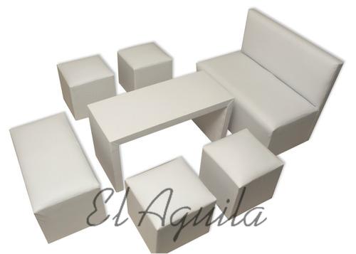 alquiler de living gazebos puff vajillas manteles mesa silla