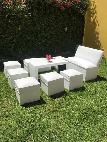 alquiler de living para eventos v&p puff sillones y mesas