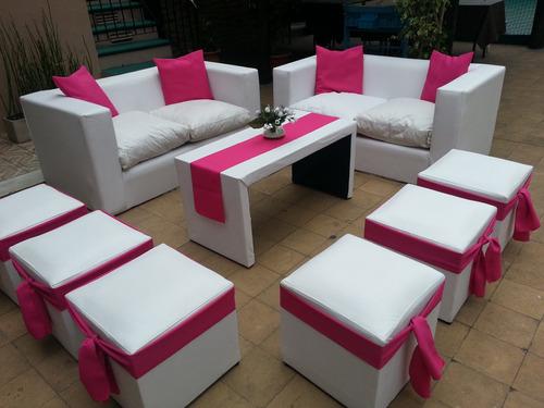 alquiler de living puf mini sillones gazebos flete gratis