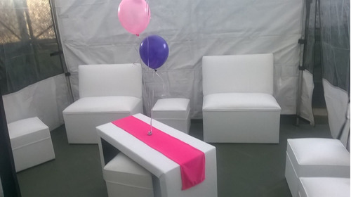 alquiler de living puff butacon mini puff gazebos sillas.