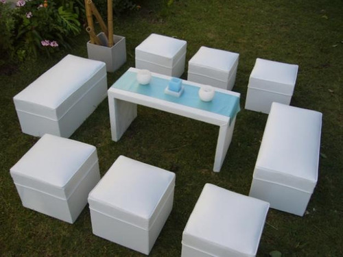 alquiler de living puff gazebos estufas sillas mesas juegos