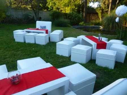 alquiler de living,puff,lunch,eventos,led, lunch,zona su
