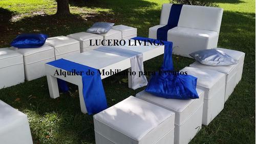 alquiler de livings adultos e infantiles - plaza blanda