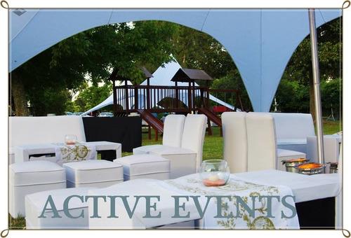 alquiler de livings, mobiliario y accesorios para eventos