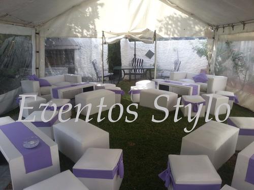 alquiler de livings stylo puf gazebos sillones flete gratis