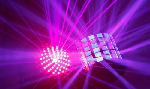 alquiler de luces audioritmicas, laser y humo para fiestas