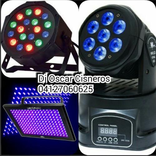 alquiler de luces de neon luz negra uv led roboticas moviles