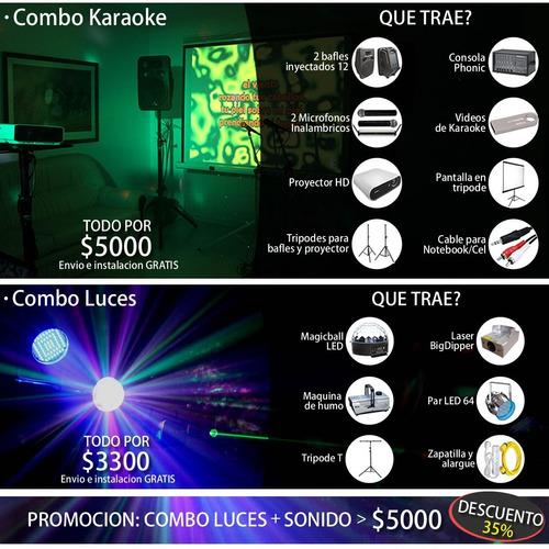 alquiler de luces sonido dj proyector karaoke envio gratis