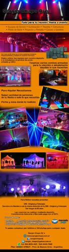 alquiler de luces, sonido, pistas de baile, led, dj en pilar