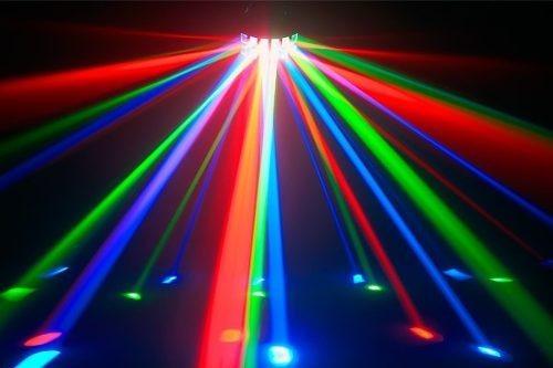 alquiler de luz negra uv tacho led color cabezal móvil láser
