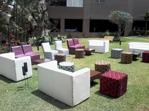 alquiler de manteleria para todo evento y áreas living..
