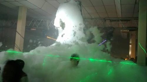 alquiler de maquina de espuma . luces .equipo de sonido