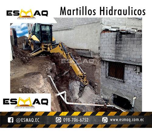 alquiler de martillo hidraulico demoledor, bobcat martillo