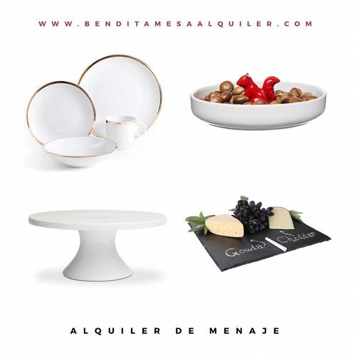 alquiler de menaje para mesas bonitas