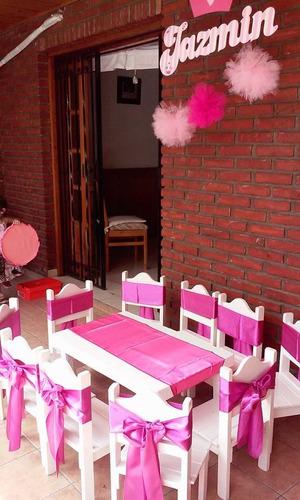 alquiler de mesa y sillitas infantiles living para niños