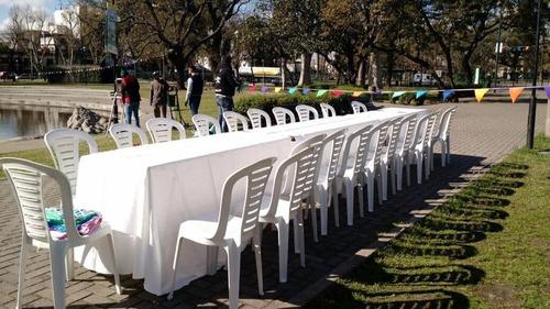 alquiler de mesas - alquiler de sillas - alquiler de livings