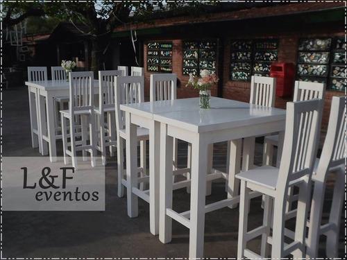alquiler de mesas altas y taburetes !! eleyefe ! livings