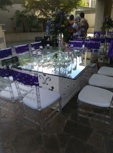 alquiler de mesas de iluminadas decoración vintage