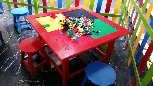 alquiler de mesas de lego para fiestas infantiles