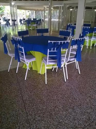 alquiler de mesas de vidrios con sillas tiffanys ...