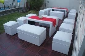alquiler de mesas, sillas, living, manteleria, vajilla, cast