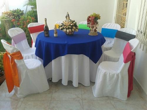 alquiler de mesas, sillas, mesones, toldos (todo impecable)