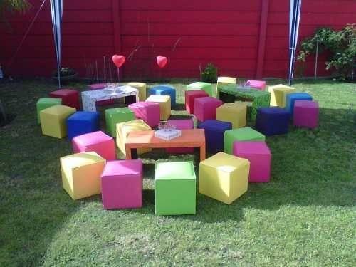alquiler de mesas sillas plaza blanda pool living inflables