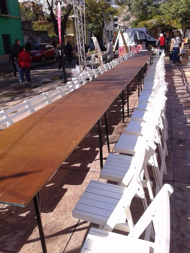 alquiler de mesas vajilla sillas livings manteles zona norte