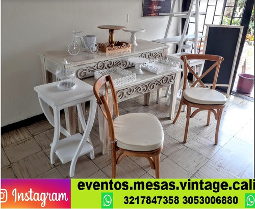 alquiler de mesas vintage cali mesas cilíndricas eventos y