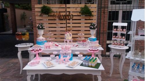 alquiler de mesas vintages,candy bar, eventos