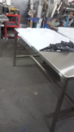 alquiler de mesas y mesadas con bacha de acero inoxidable