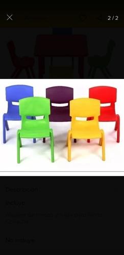 alquiler de mesas y sillas para niños