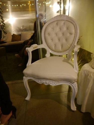 alquiler de mesas y sillones luis xv - vintage