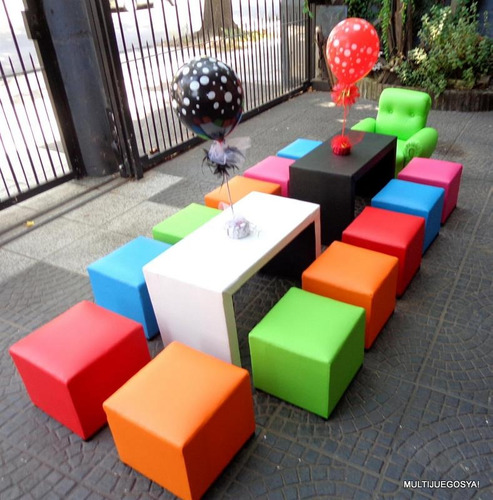 alquiler de mini living sillas mesas pool inflables metegol