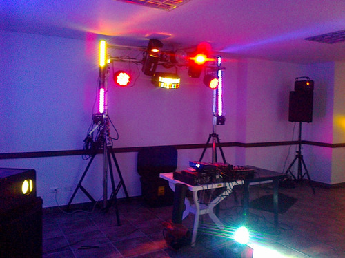 alquiler de miniteka, luces y karaoke