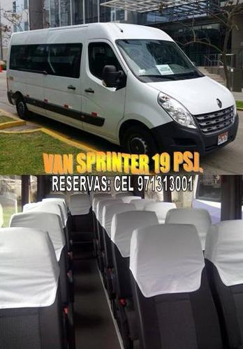 alquiler de minivan h1 c/chofer van coaster custer bus buses